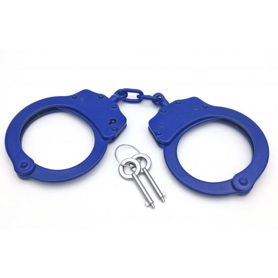 Double Locked CHAIN BLUE Handcuffs (TAIWAN)