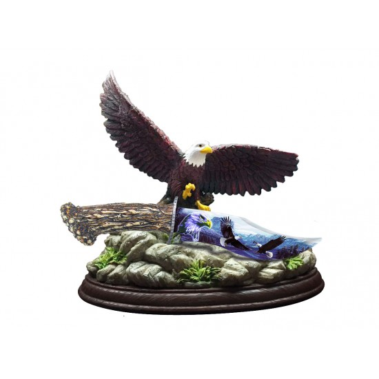 EAGLE FANTASY KNIFE RESIN ART BLADE WITH STAND