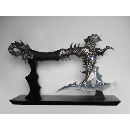 FANTASY DRAGON AXE 16.92'' WITH STAND