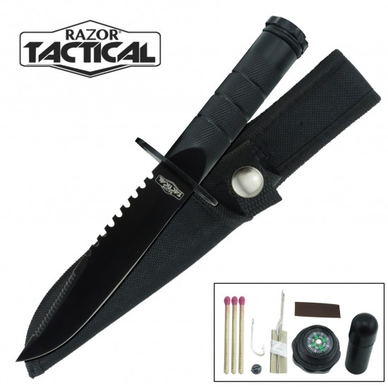 8.5 SURVIVAL KNIFE WITH NYLON SHEATH (5218)
