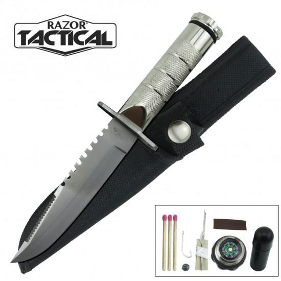 8.5 SURVIVAL KNIFE WITH NYLON SHEATH (5220)