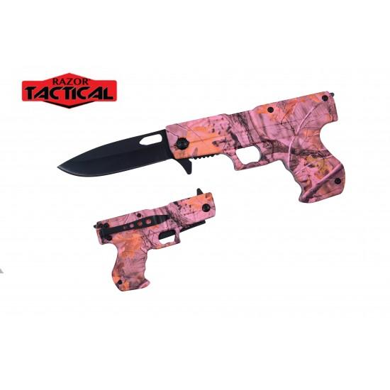 Gun Shape Spring Assist Knife