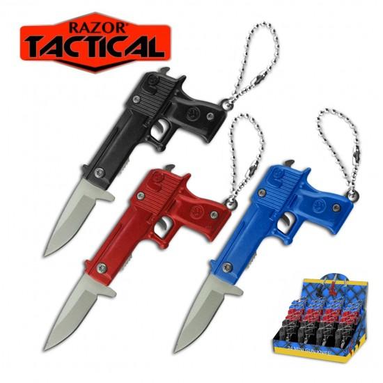 MINI GUN SPRING ASSIST KNIFE 2.75''  24PCS DISPLAY.