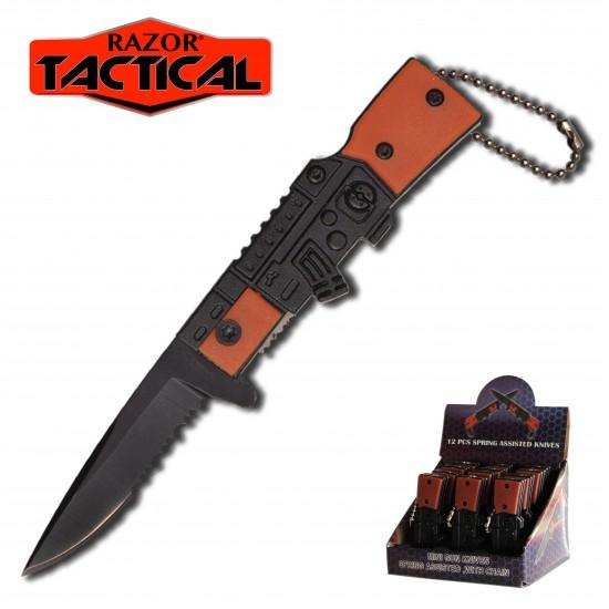 MINI SPRING ASSIST GUN KNIFE 2.75''  12PCS DISPLAY.