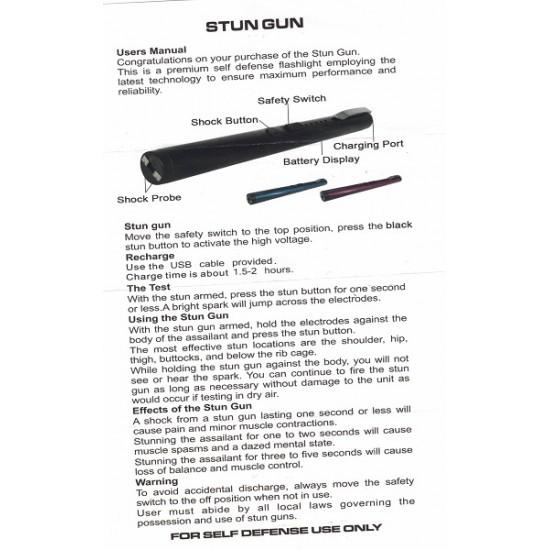 PEN STUN GUN BLUE