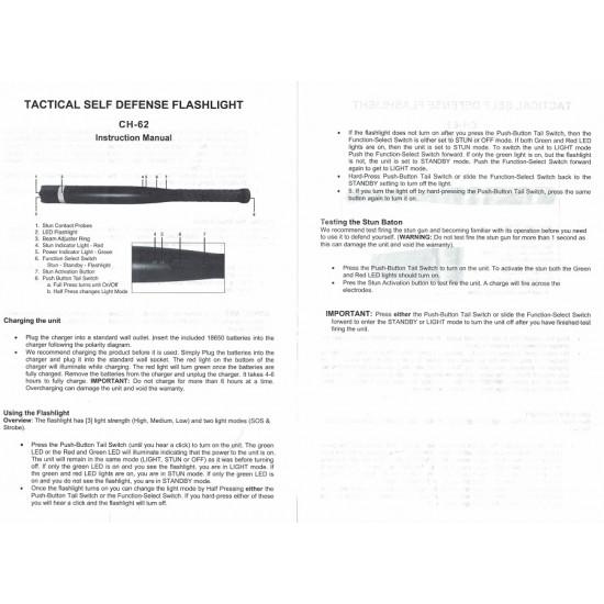 CHEETAH BASEBALL BAT FLASHLIGHT STUN GUN