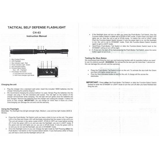 CHEETAH EXTENDABLE TRUNCHEON FLASHLIGHT STUN GUN (25/cs)
