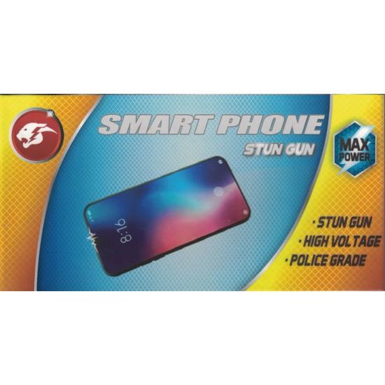 Cheetah Smart Phone Rechargeable Stun Gun with Alarm and Light