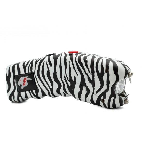 Cheetah Cyclone Stun Gun w/ Alarm, Zebra (100/cs)