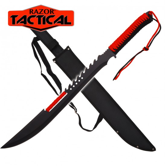 25'' RAZOR TACTICAL MACHETE WITH SHEATH - RED