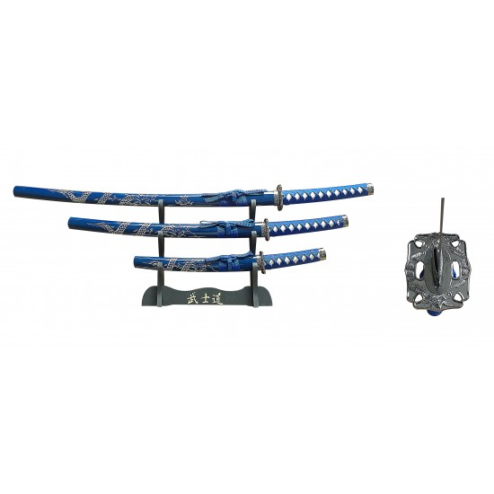 "3 PIECE SAMURAI SWORD SET 40"" OVERALL (RT-5001)"