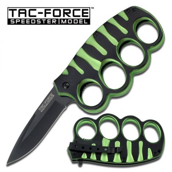 """GREEN  Action Assist Finger Guard Knife 4.5"""" (SE-511GN)"""