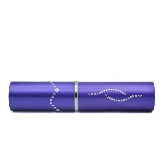 Purple Cheetah Lipstick Stun Gun