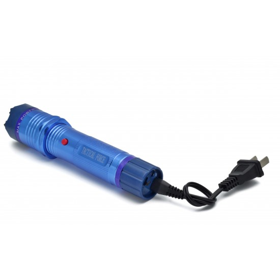 TACTICAL FORCE FLASHLIGHT STUN GUN BLUE